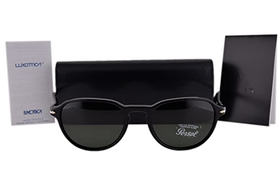db4beb8111 Image Unavailable. Image not available for. Color  Persol PO3053S Sunglasses  Black ...