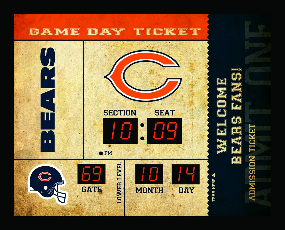 Team Sports America Chicago Bears Bluetooth Scoreboard Wall Clock by Team Sports America