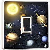 Planetas Solar Sistema Interruptor PEGATINA VINILO PIEL