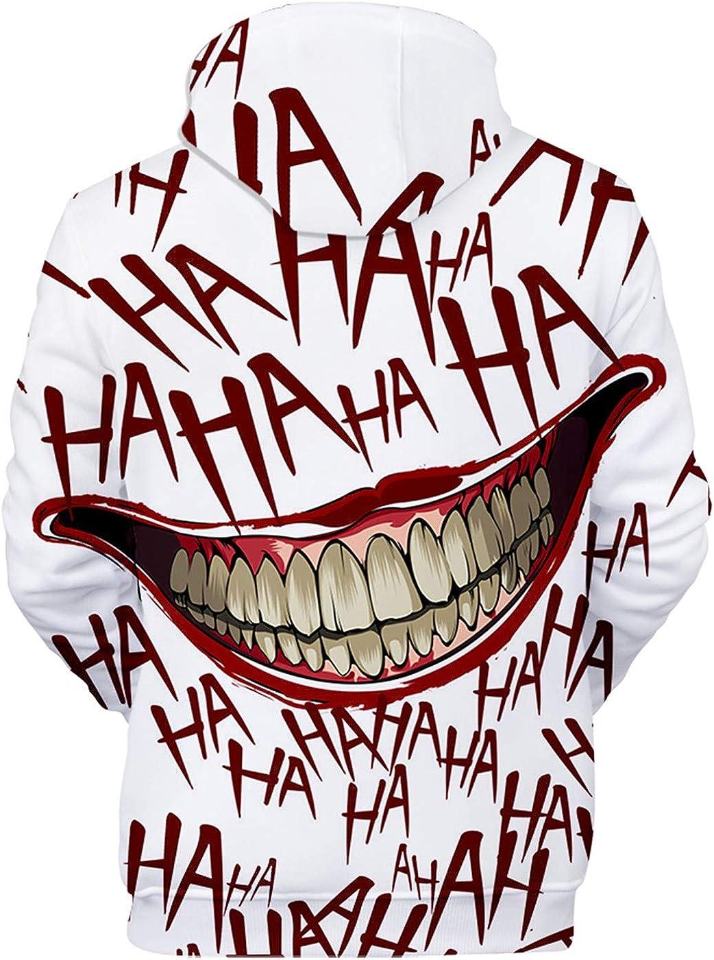 SIMYJOY 3D impresi/ón Sudadera con Capucha de Suicide Squad Joker Print Jersey para Hombres Mujeres y Adolescentes
