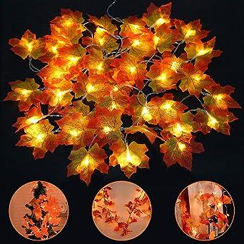 Led Weihnachtsbeleuchtung Balkon.40 Led Ahornblätter Lichterkette Vegena 4m Ahornblatt Lichterketten Weihnachtsbeleuchtung Batteriebetrieben Innen Außen Deko Für Thanksgiving