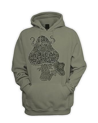 0fb724a5 Tribal T-Shirts Mens Magic Mushrooms Hoody Sweatshirt: Amazon.co.uk:  Clothing