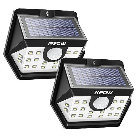Mpow solar lights outdoor 20 led motion sensor lights with wide mpow solar lights outdoor 20 led motion sensor lights with wide angle lighting ip65 aloadofball Images