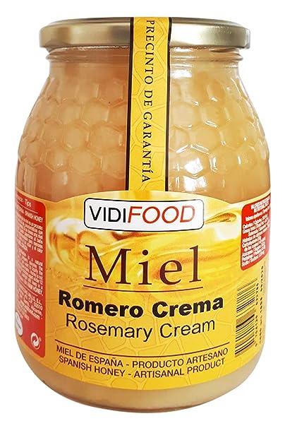 Miel de Romero Crema - 1kg - Producida en España - Alta Calidad, tradicional & 100% pura - Aroma Floral y Sabor Rico y Dulce - Amplia variedad de ...