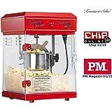 "Rosenstein & Söhne Popcornmaschine: Profi-Retro-Popcorn-Maschine ""Cinema"" mit Edelstahl-Topf im 50er-Stil (Profi Popcornmaschine)"