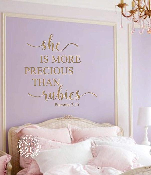 Top 6 She Is More Precious Than Rubies Wall Decor