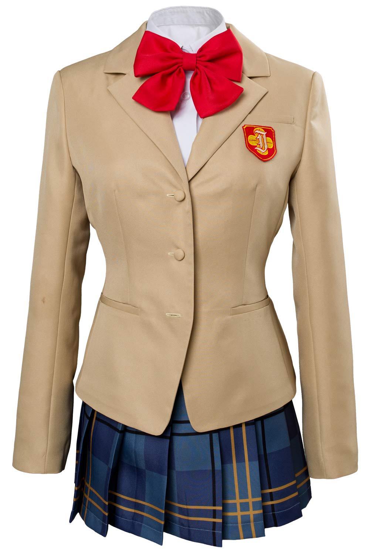 MingoTor Anime Schuluniform Cosplay Kostüm Damen XS Gelb L