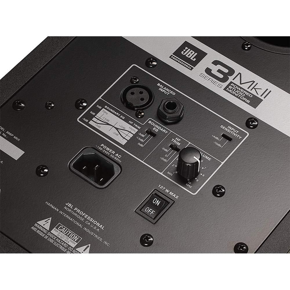 /& 2 2 JBL 306P MkII Powered 6.5 Two-Way Studio Monitor IP-M Isolation Pad with 20 XLR Cable Bundle Pair Medium, Single