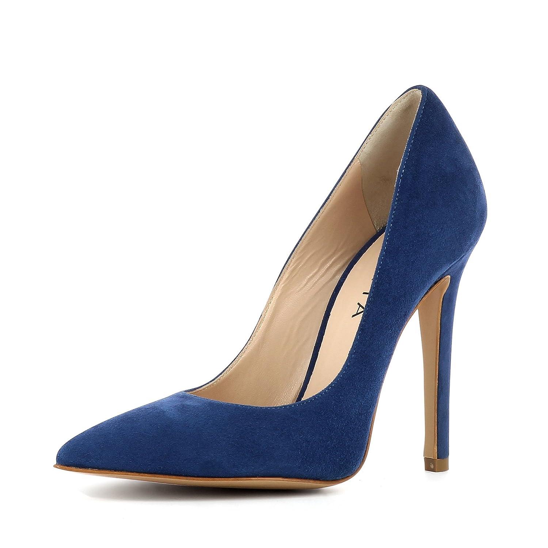 Evita Shoes Lisa - Zapatos de vestir de Piel para mujer 41|Azul