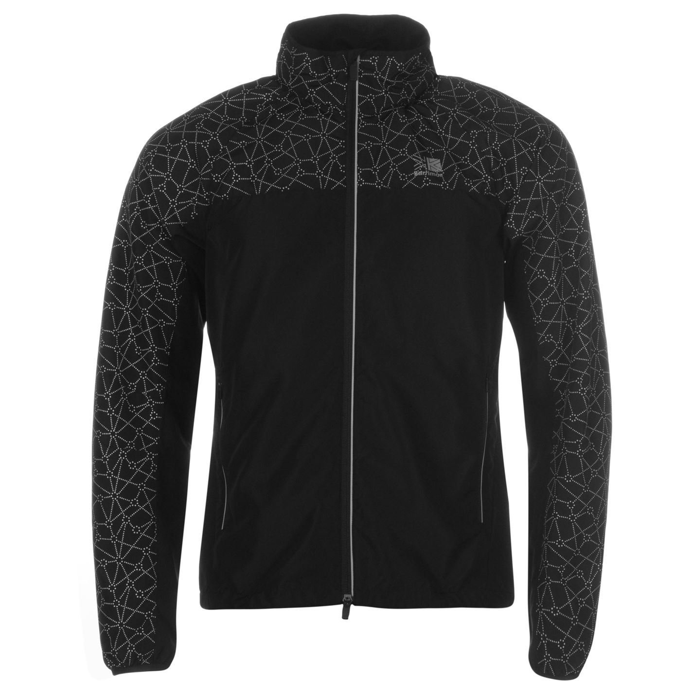59e150f2a Karrimor Mens Xlite Reflective Running Jacket Coat Top Chin Guard High Neck  Black/Reflect S: Amazon.co.uk: Clothing