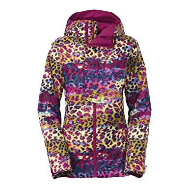 Amazon.com  The North Face Vagabond Insulated Jacket Womens Dramatic Plum  Multi Leopard Print XS  Clothing b5744d20d