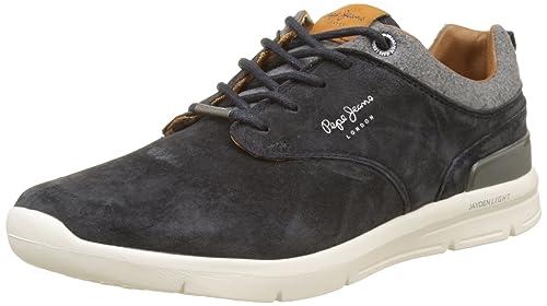 Pepe Jeans London Jayden Suede, Zapatillas para Hombre, Marrón (Tobacco 859), 45 EU