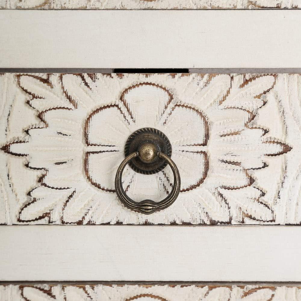 Consola de Madera de Abeto Maciza con cajones y Puertas tallados LOLAhome