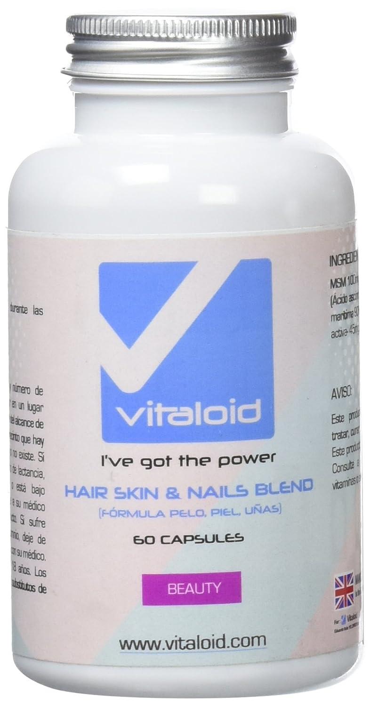 Fórmula Cabello Piel y Uñas Vitaloid - Biotina - La mejor Vitamina para el cabello, piel y uñas - Contribuye al crecimiento y a fortalecer el CABELLO ...