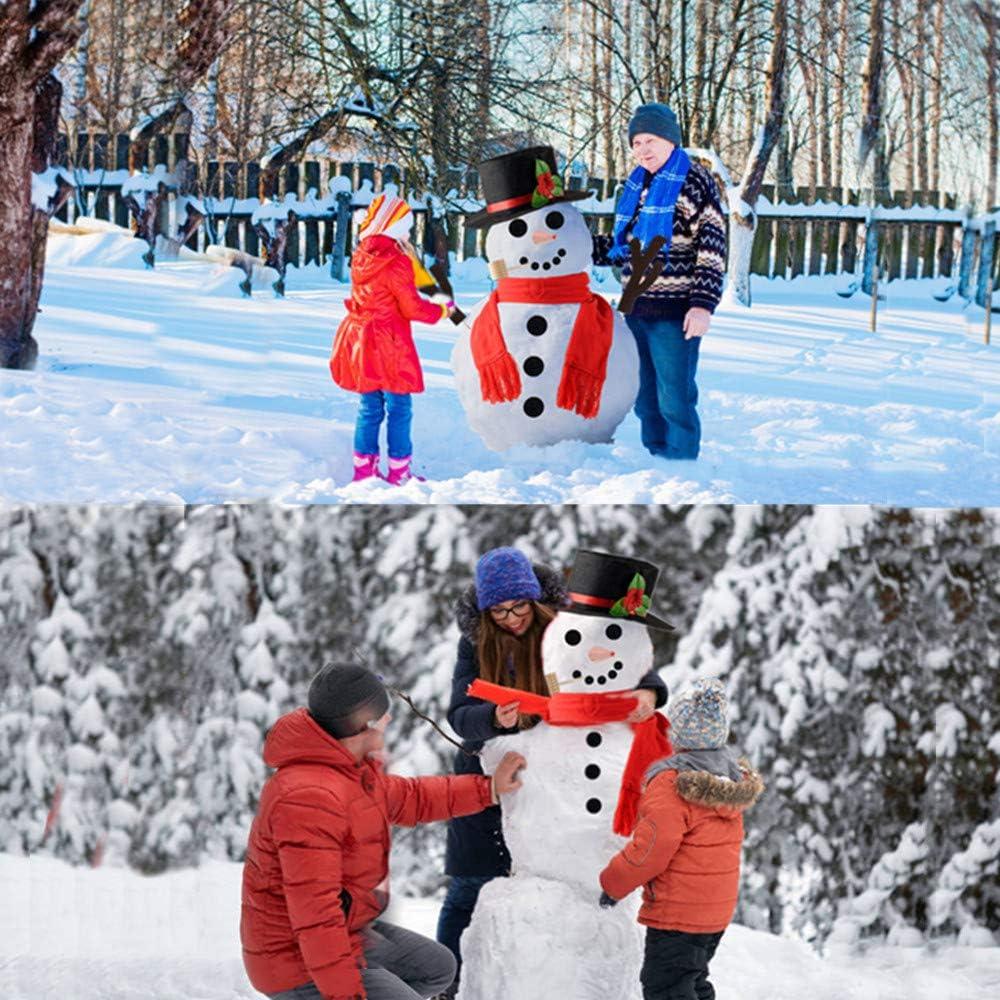 XADP 16Pcs Snowman Kit First Snowman Decorating Kit Winter Outdoor Fun Toys for Kids