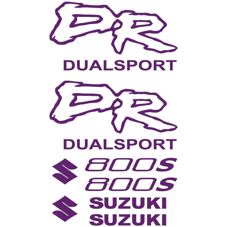 Amazon de aufkleber sticker suzuki dr 800s ref moto 144 violett