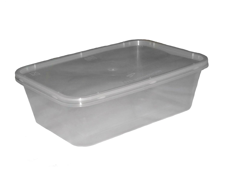 250 Microondas Congelador. Pan Cajas de plástico Recipiente & Tapa ...