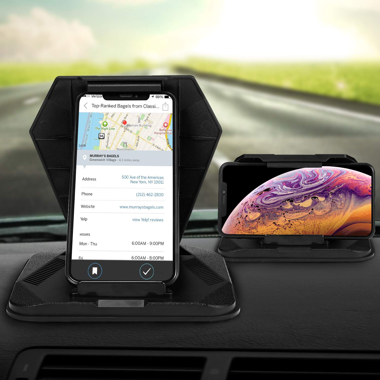 Cell Phone Holder for Car Phone Mount Silicone Dashboard Tablet GPS Holder Car Pad Mat Desk Phone Stand for 5.0-9.7 GPS Mobile Phone iPhone Xs Max XR X 6//6s//8//7 Plus iPad Air Mini Galaxy S10