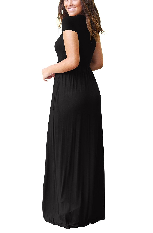 ZIKKER Women Loose Plain Long Maxi Dress Casual Pockets Dresses at Amazon Womens Clothing store: