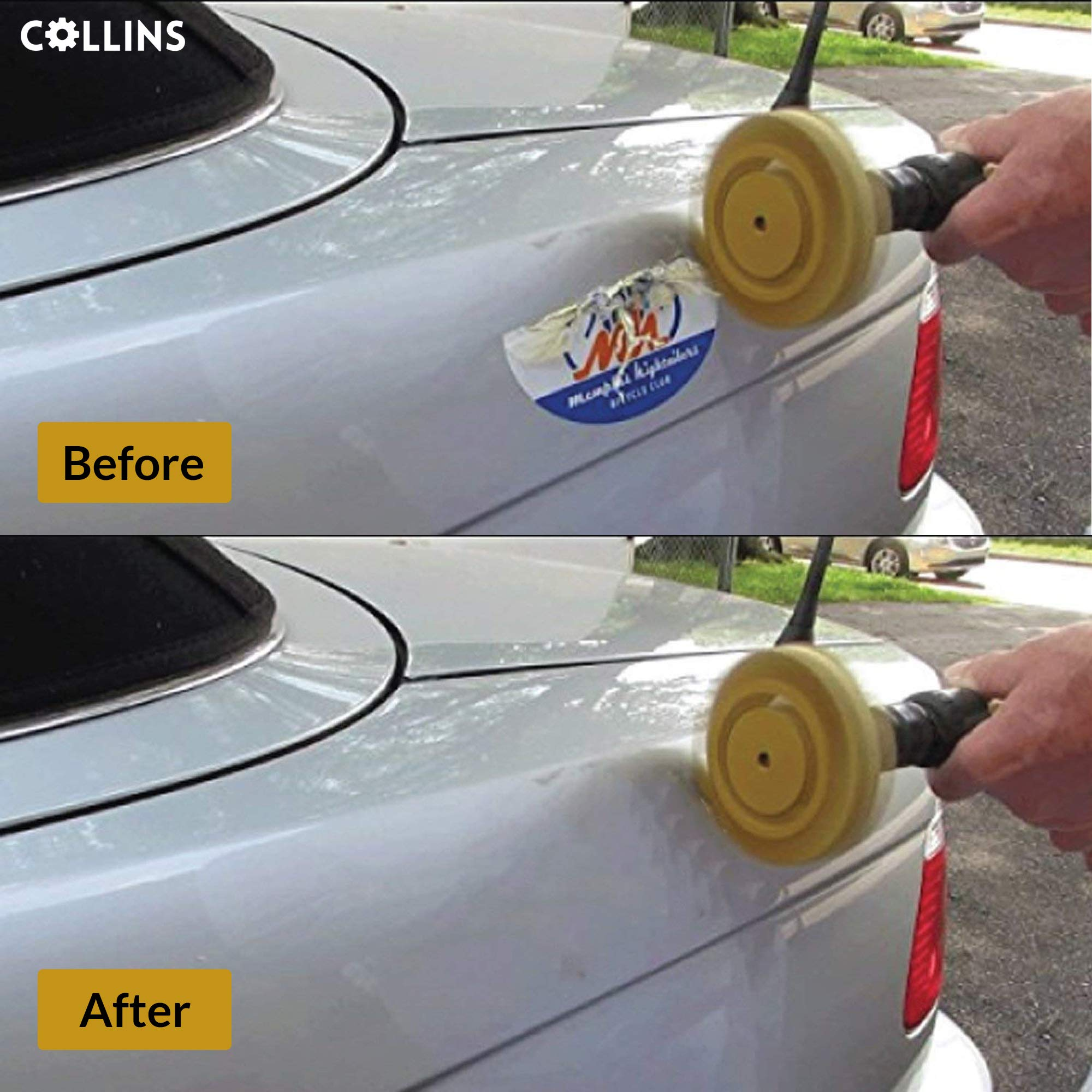 Decal Remover 3m Rubber Eraser Wheel, Adhesive Remover with Drill Adapter 4 inch- Vinyl Decals, Pinstripes, Stickers, Double Side Adhesive Removal Tool by MADE FOR THE PROFESSIONAL (Image #6)