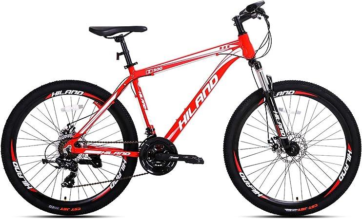 Hiland 26'' Aluminum Mountain Bike 24 Speeds with Shimano Disc Brake,16.5/18 /19.5 Frame Size