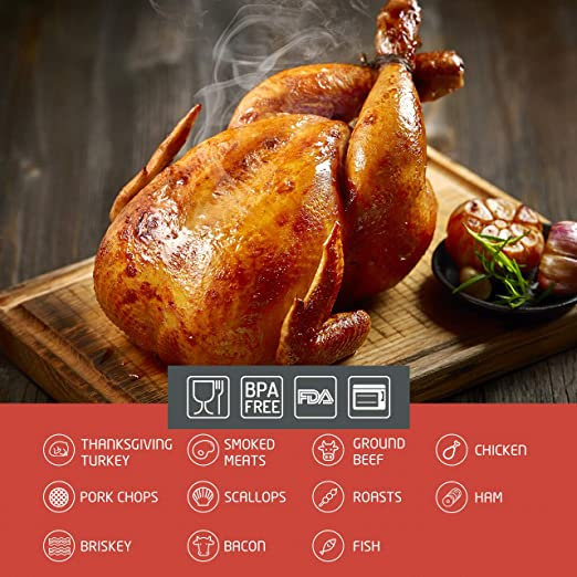 Omorc - Pera de succión para salsas, pollo, pavo o barbacoa, con cepillo de limpieza, aguja y pincel, de calidad FDA, goma y acero inoxidable: Amazon.es: ...