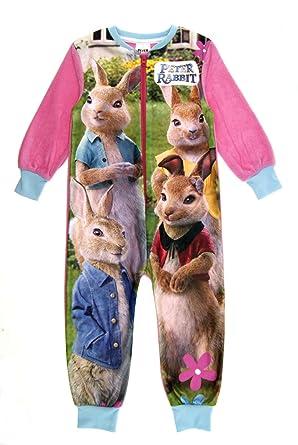 674df077df85 Kids Girls Boys Fleece Character All In One Onesie Pyjamas PJ s ...