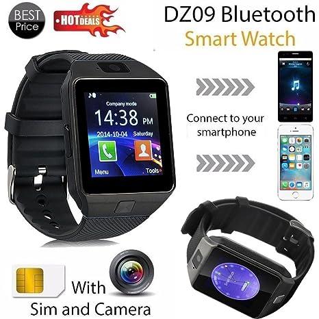Coloré(TM) Montre Connectée, Montre intelligente de Bluetooth DZ09 GSM Smartwatch pour le téléphone androïde