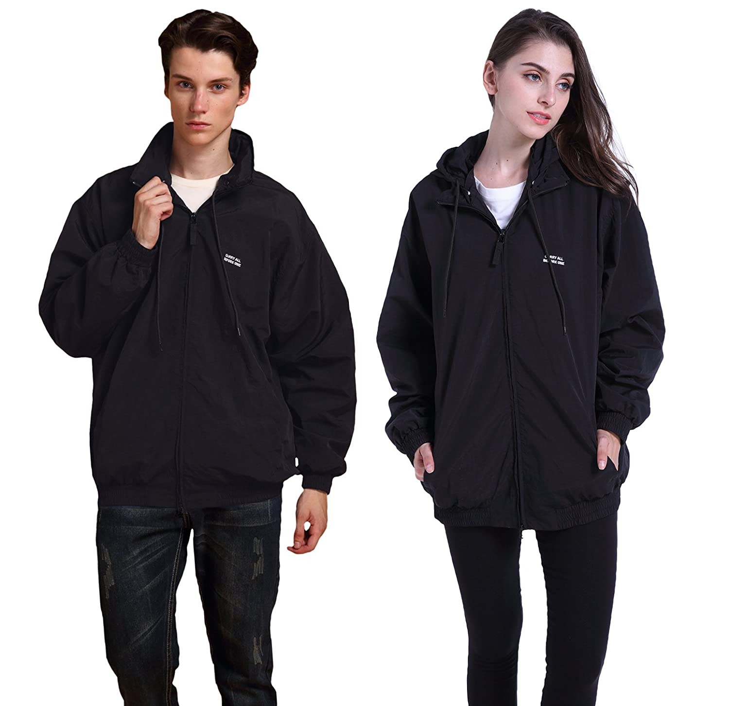 AIKOSHA Mens Womens Casual Couple Matching Active Hoodie Lightweight Spring Jacket