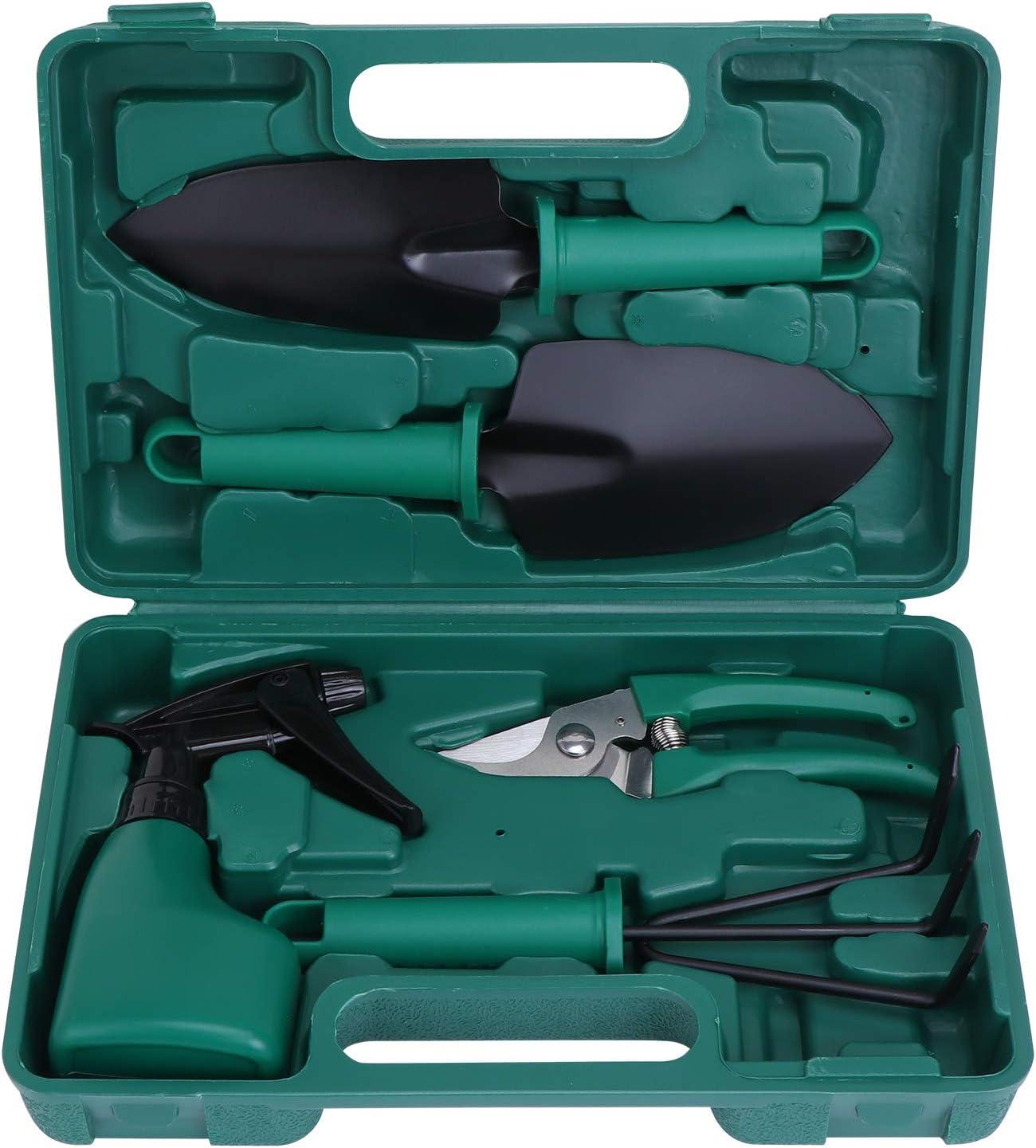 KEESIN Juego de herramientas de mano para jardín, kit de plantación, herramienta de trabajo de jardín, regalo para los amantes de la degradación, 5 fotos