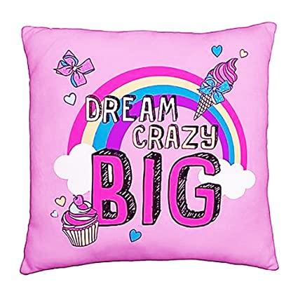 30c91caaa0 Jo Jo Siwa Bow Unique 2-Sided Design Cushion Pillow, Pink