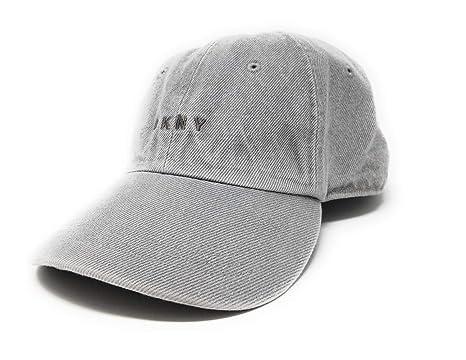 DKNY Cap Front Logo Denim Hat 6 Panel (Grey) at Amazon Men s Clothing store  0a0c15dda25