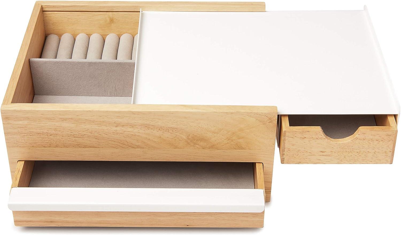 Joyero Umbra Stowit 290245-668 color blanco y natural