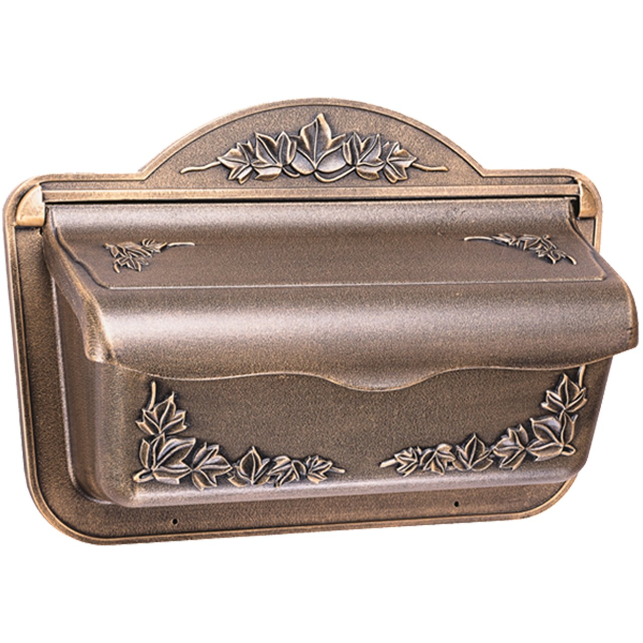 residential mailboxes wall mount. gibraltar cah304bz ivy design cast aluminum wall mount mailbox large amazoncom residential mailboxes