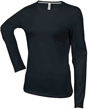 42ce39013e6869 Kariban Ladies Langarm T-Shirt K383  Amazon.de  Bekleidung