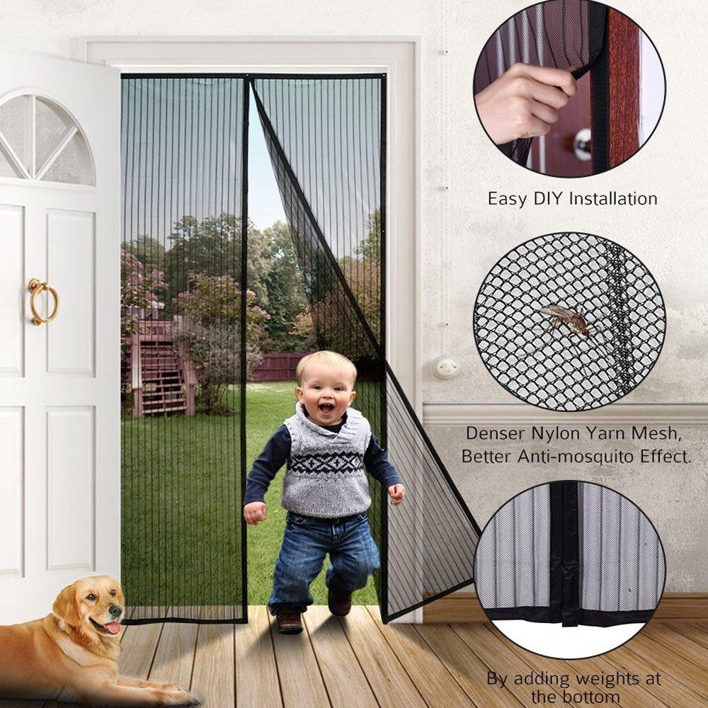Instant screen door mosquito net for door amazon vtopaller Image collections