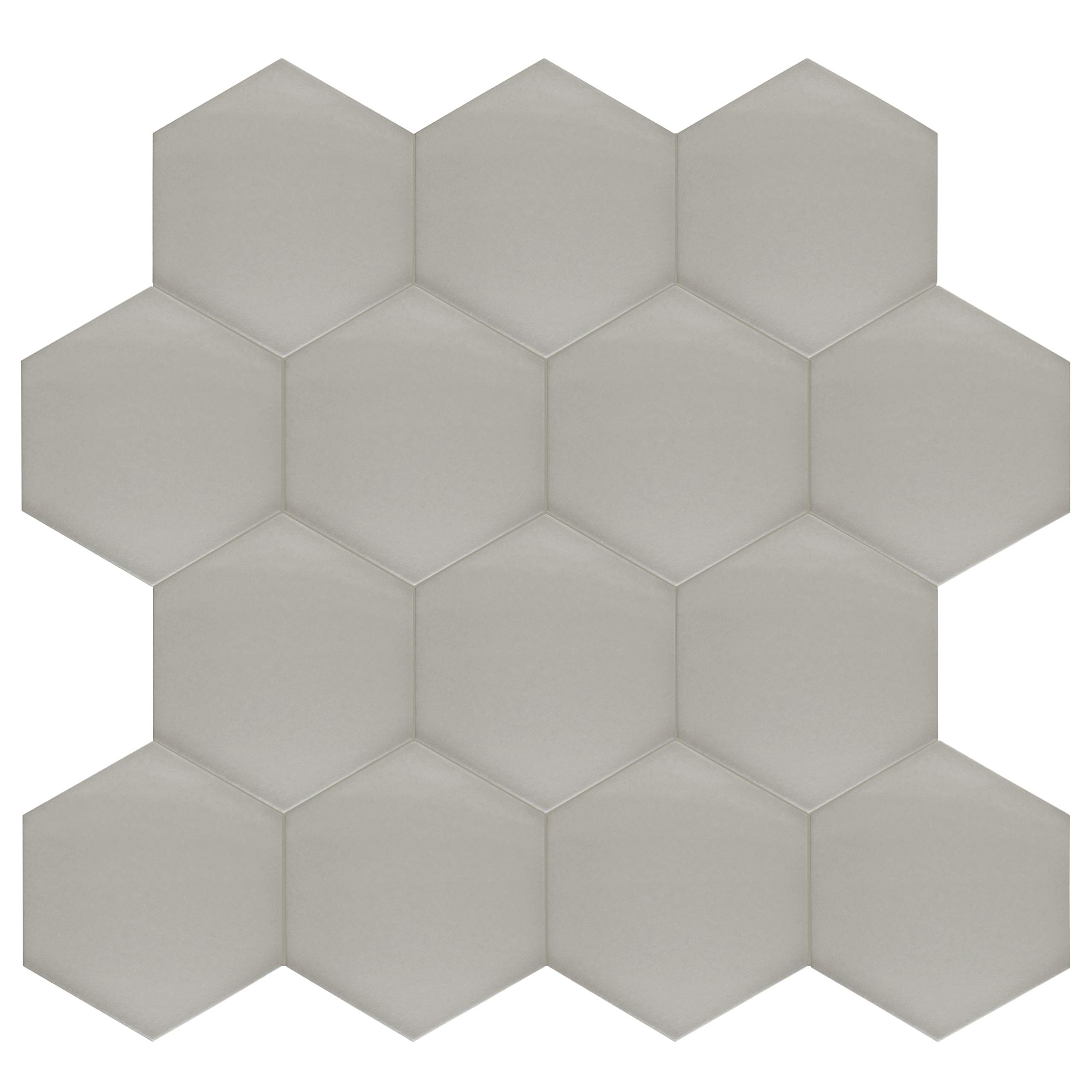 SomerTile FCD10STX Abrique Hex Porcelain Floor and Wall, 8.63'' x 9.88'', Silver Tile 8.625'' x 9.875'' 25 Piece by SOMERTILE (Image #11)