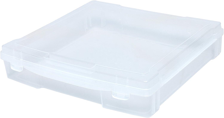 We R Memory Keepers Craft and Photo We R Craft & Photo Translucent Plastic Storage-12 X12 Case: Amazon.es: Hogar