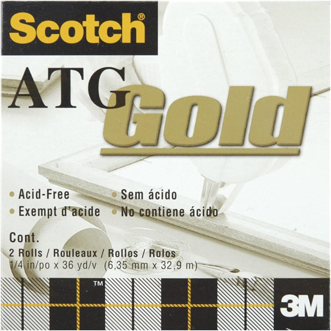 Scotch 3M ATG Adhesive Tape Glider Gun General Purpose Refill 30 rolls 1//4x36yd