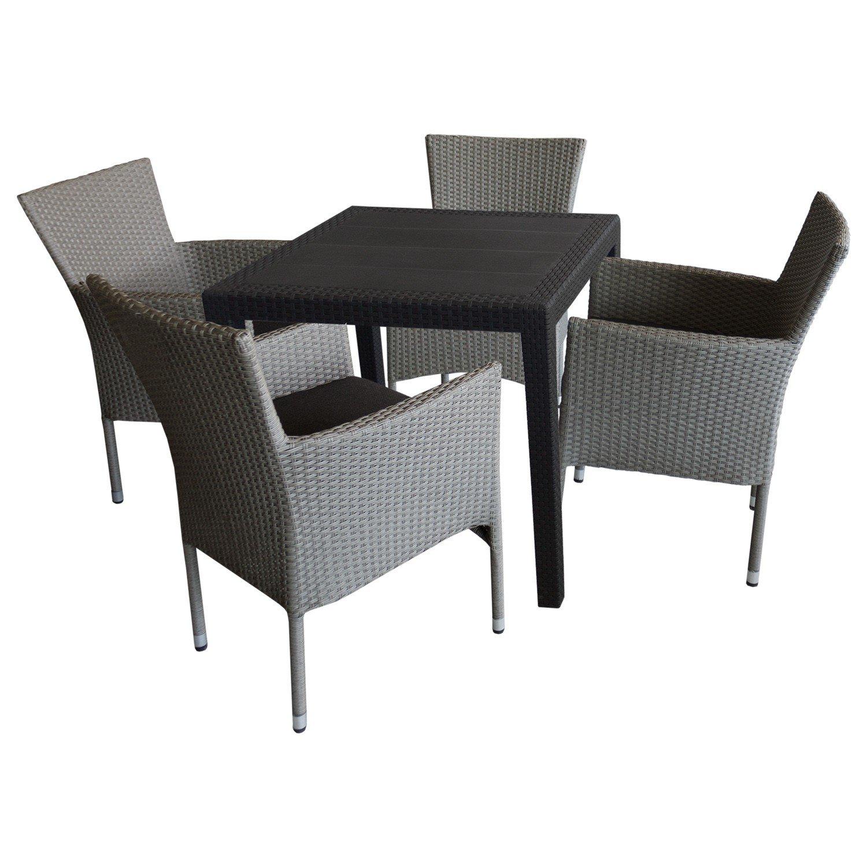 5tlg bistro und balkonm bel set sitzgarnitur. Black Bedroom Furniture Sets. Home Design Ideas
