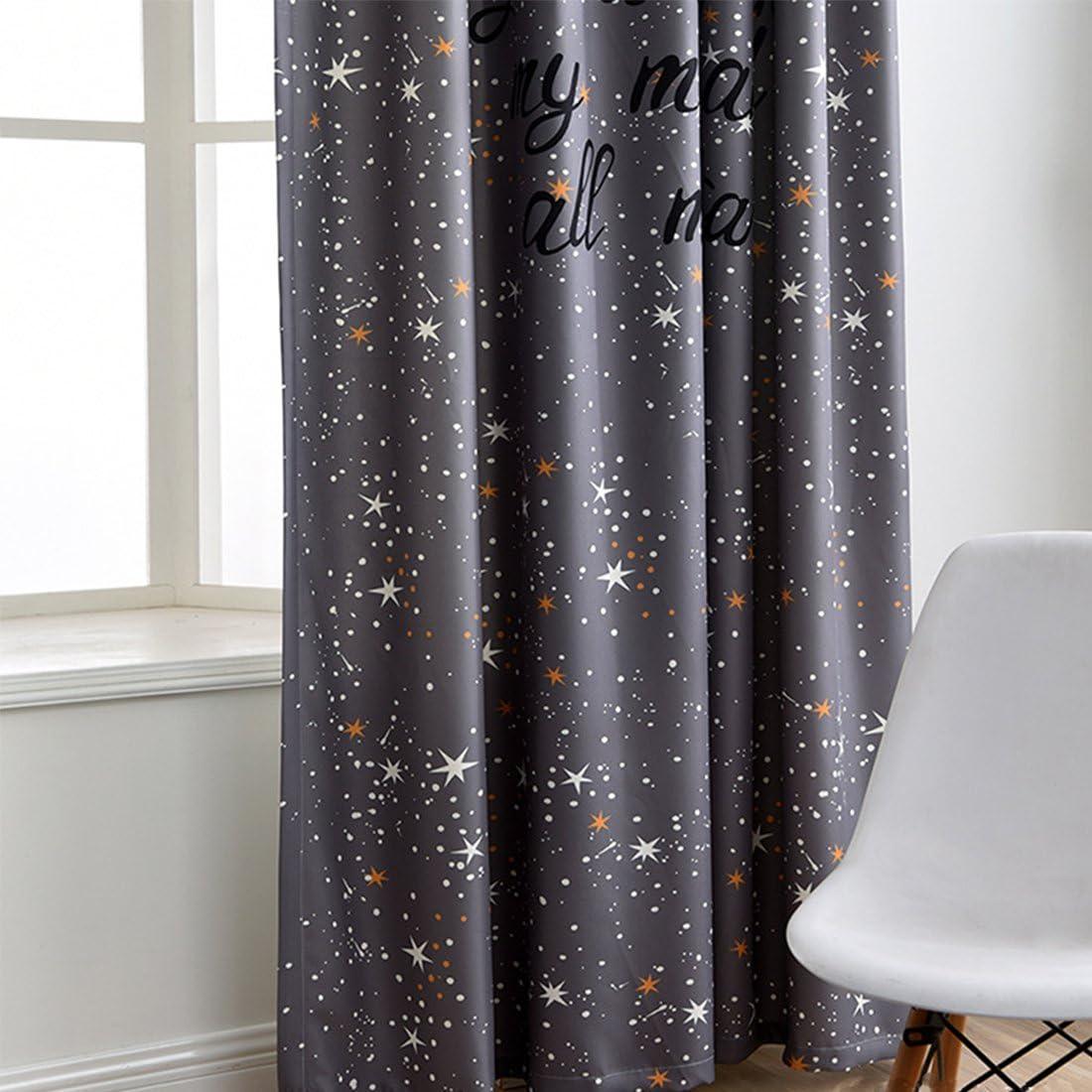 dise/ño de estrella dormitorio cortina decorativa para sal/ón Gwell Cortinas para habitaci/ón infantil St/ück x1 Bufanda derecha. HxB 1 unidad 225x140
