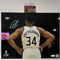 $149 » Autographed/Signed Giannis Antetokounmpo Milwaukee Bucks 11x14 Basketball Photo JSA COA