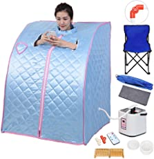 AW Portable Personal Therapeutic Steam Sauna SPA Slim Detox Weight Loss Home Indoor