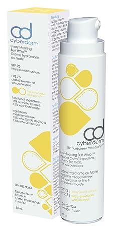 CyberDERM – Natural Every Morning Sun Whip Facial Sunscreen SPF 25 1.7 fl oz 50 ml
