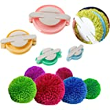 Accmart 4 Sizes Pom-pom Maker for Fluff Ball DIY Wool Knitting Craft Tool Set