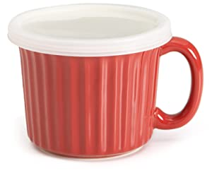Good Cook Ceramic 18 Ounce Soup Dish, Red