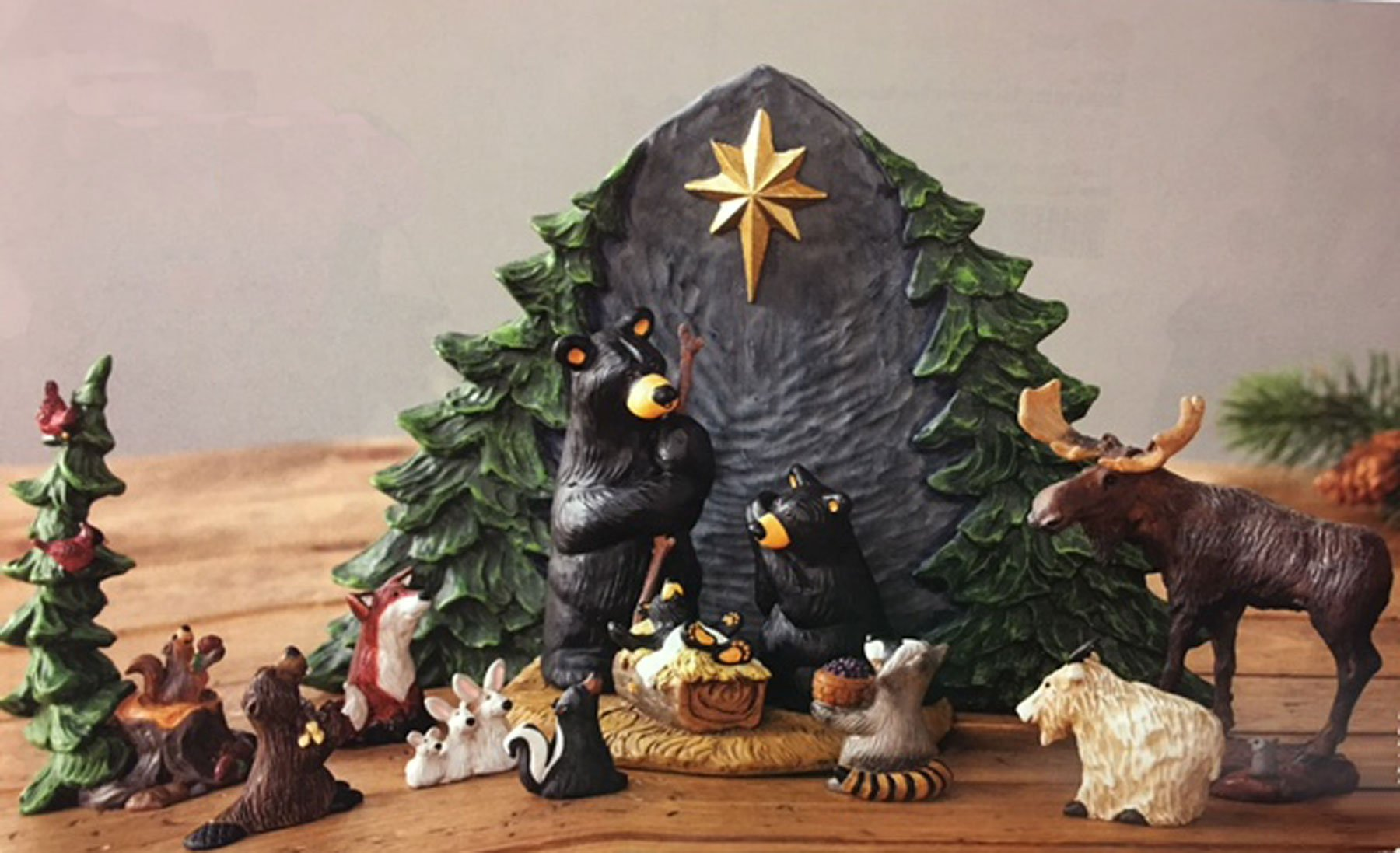 Bearfoots Bears 9 Pc Beartivity Forest Nativity with Forest Friends & Gift Bearers