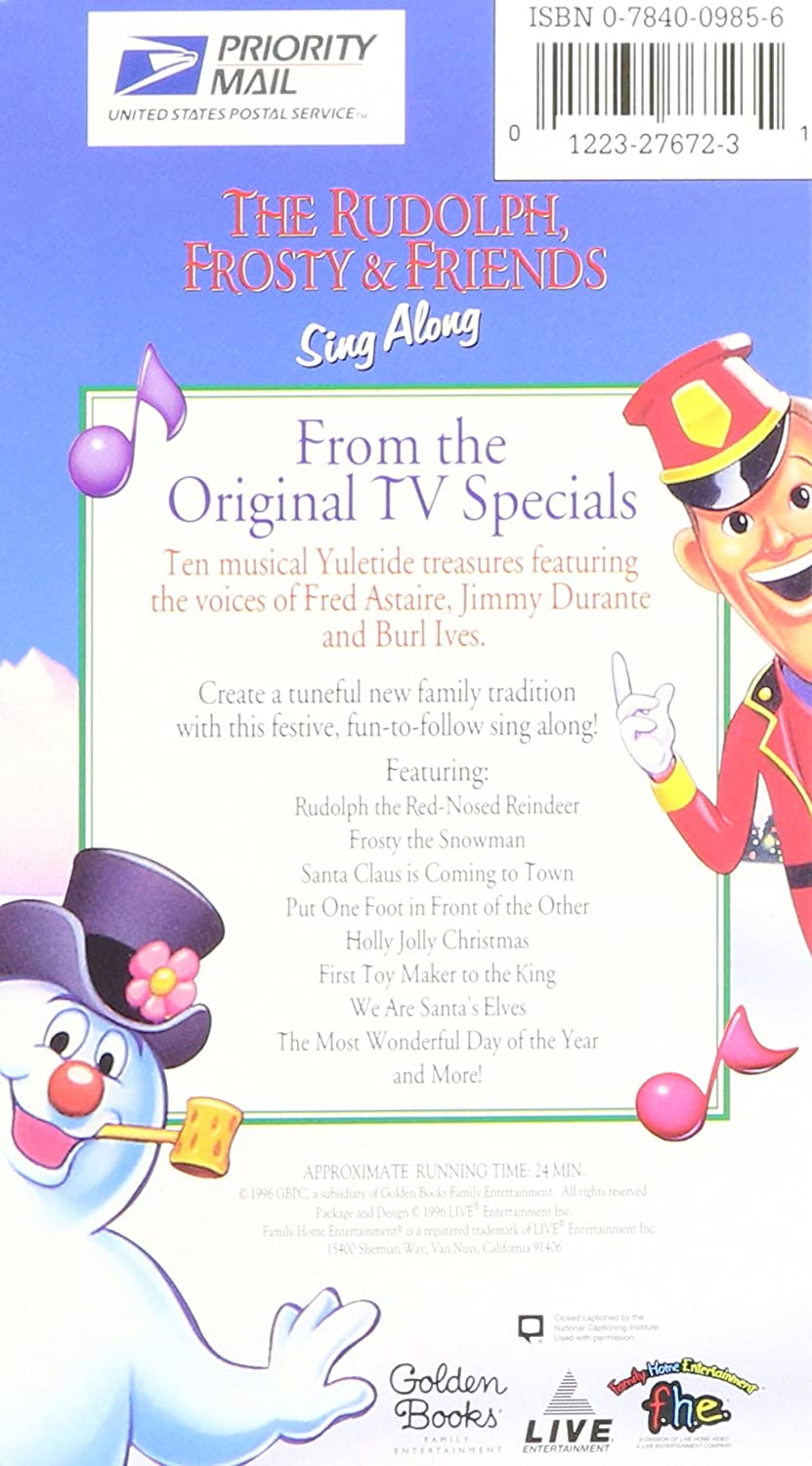 amazon com the rudolph frosty u0026 friends sing along fred astaire