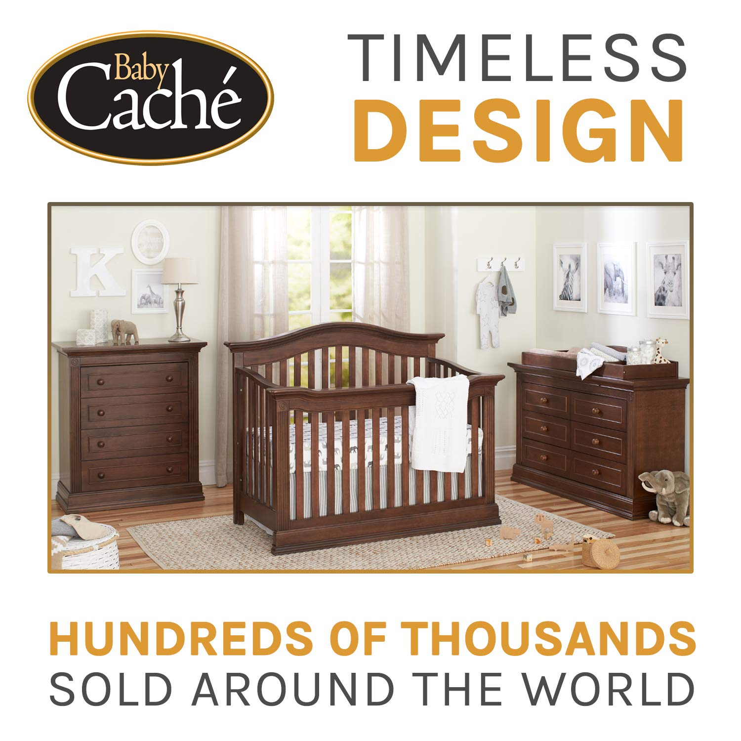 Baby Cache Montana Collection Crib Conversion Kit, Brown Sugar by Baby Cache (Image #4)