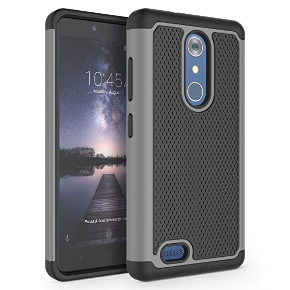 online retailer 3e62f e3887 ZTE Zmax Pro Case, ZTE Carry Case, ZTE Blade X Max Case, SYONER  [Shockproof] Hybrid Rubber Dual Layer Defender Protective Phone Case Cover  for ZTE ...